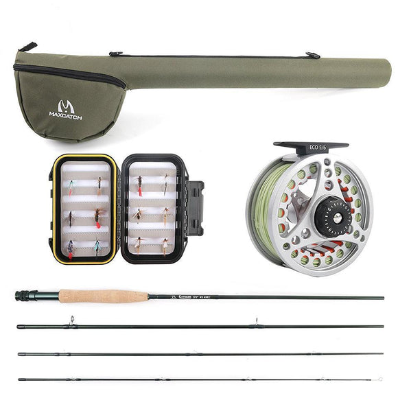 Fly Fishing Rod & Reel Combo Rod Reel Combo-Fresh Steals
