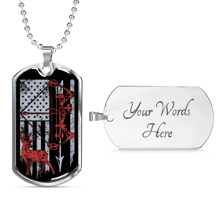 Hunting Flag Military Dog Tag Necklace