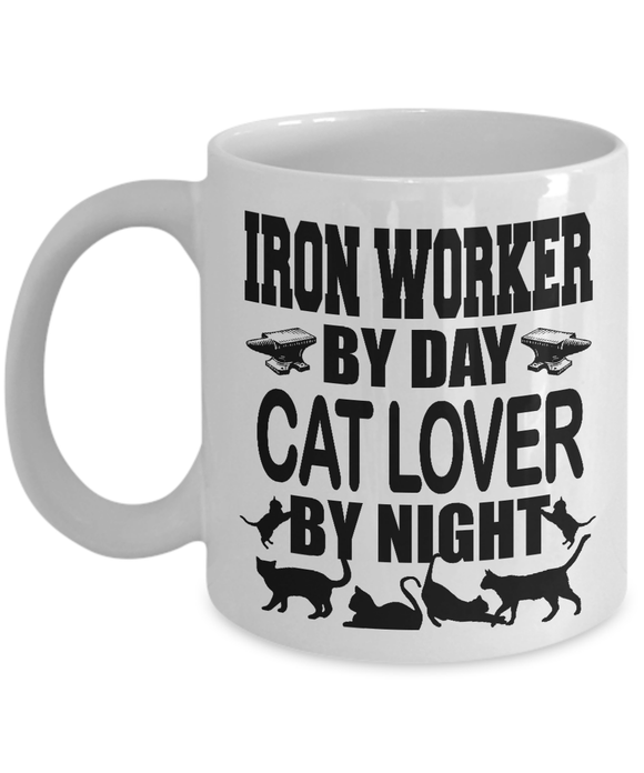 Iron Worker Cat Lover Mug Coffee Mug-Fresh Steals