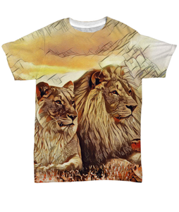Lions and Lioness T-Shirt All-Over Print-Fresh Steals