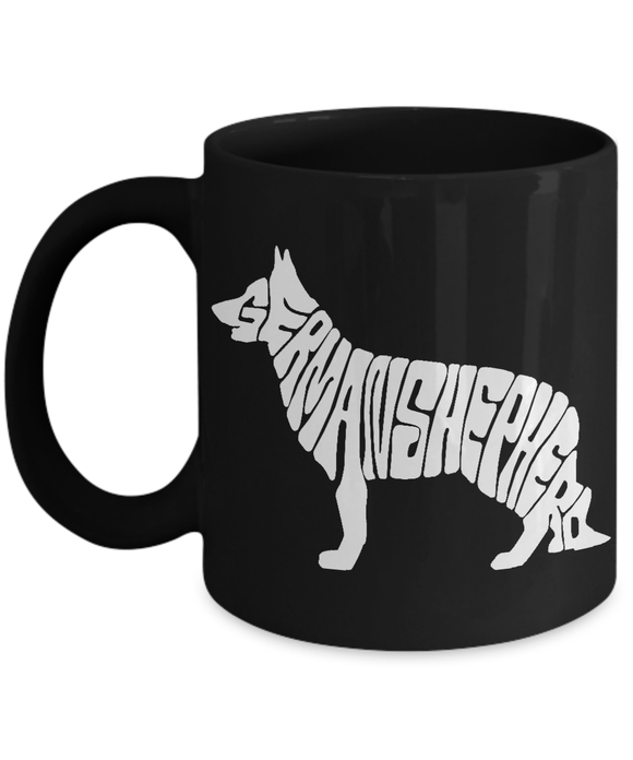 German Shepherd Letter Design Mug Coffee Mug-Fresh Steals