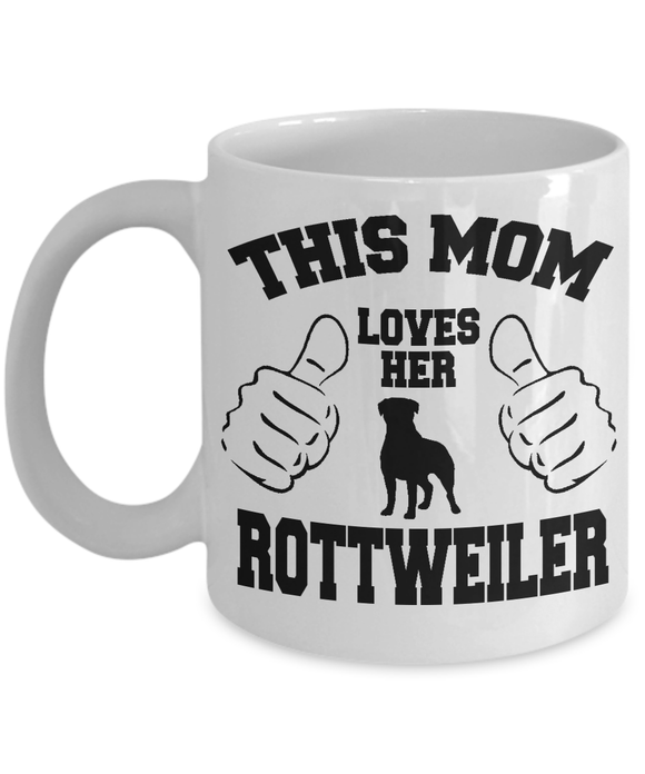 This Mom Loves Her Rottweiler Mug Coffee Mug-Fresh Steals