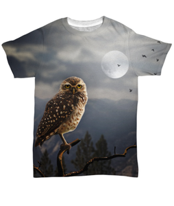 Moonlit Owl T-Shirt All-Over Print-Fresh Steals