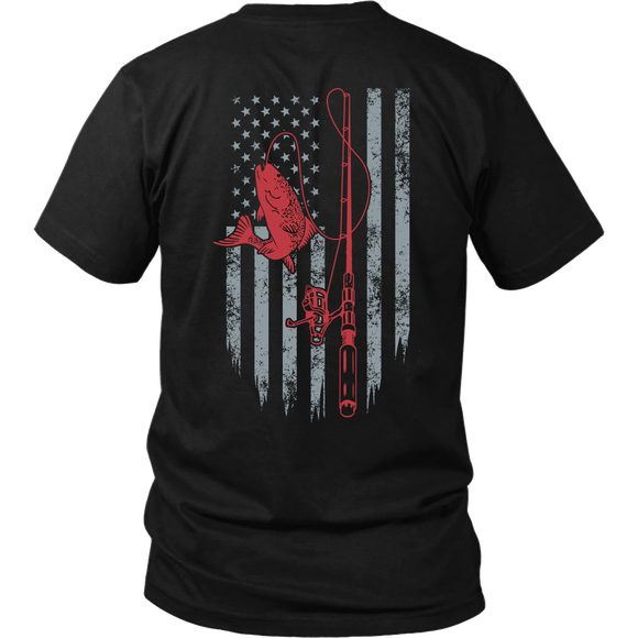 Fishing American Flag Shirt T-shirt-Fresh Steals