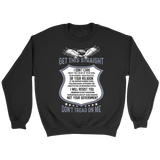 Don't Tread On Me Crewneck Sweatshirt by Fresh Steals