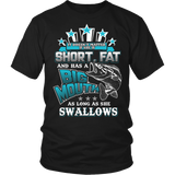 Short Fat and Has a Big Mouth T-shirt-Fresh Steals