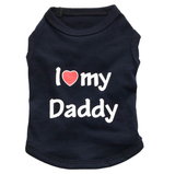 Cute Dog T-Shirt: I Love My Mommy / Daddy Offer Dog T-Shirt Giveaway-Fresh Steals
