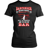 Badass Bartender T-shirt-Fresh Steals