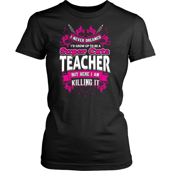Super Cute Teacher T-shirt-Fresh Steals