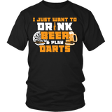 Drink Beer and Play Darts T-shirt-Fresh Steals
