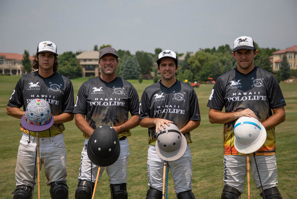Chris Dawson, Nano Gracida, Tommy Collingwood, and Diego Cavagnah for Hawaii Polo Life Team in Click Polo