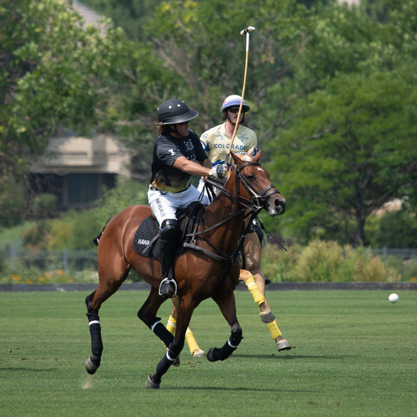 Chris Dawson playing polo in Denver - Hawaii Polo Life - Horseplay