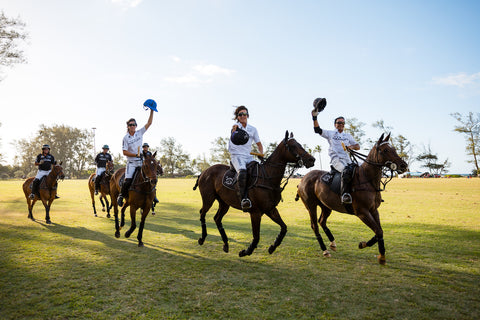 Hawaii Polo life Team Black & White take the Field on Polo Sunday