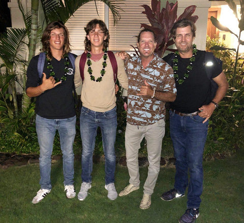 Chris Dawson welcomes Luis Escobar and his family to Hawaii