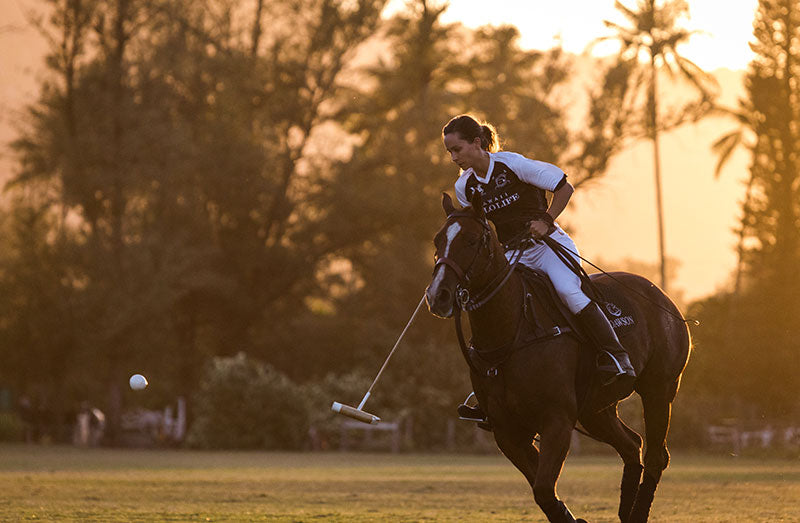 Pamela Flanagan playing for Hawaii Polo Life Team
