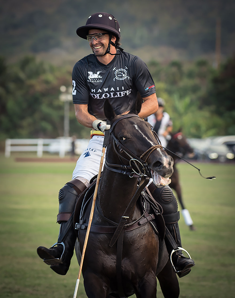 Ignacio Lapida in Hawaii Polo Life Polo Team Jersey