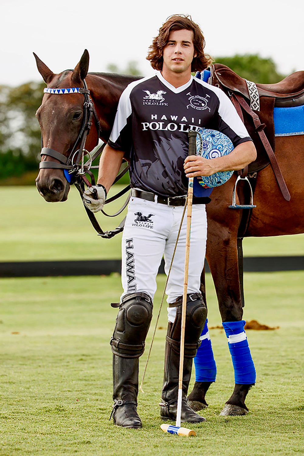 "Mariano ""Nano"" Gracida in Hawaii Polo Life Polo Team Jersey's"