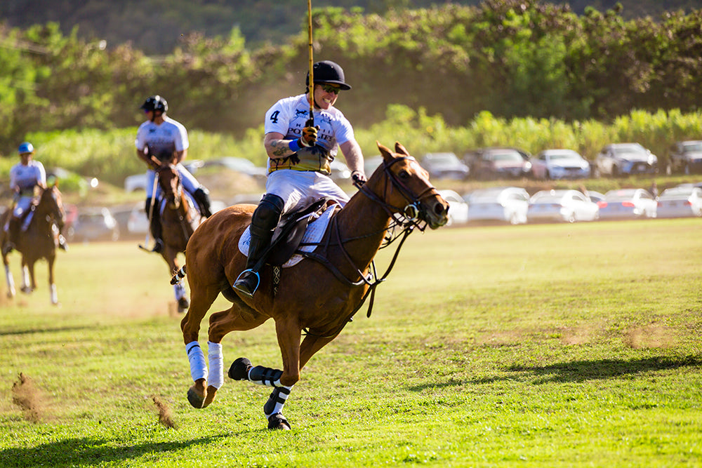 Simon Keyte at the 2017 Hawaii International Polo Association Invitational