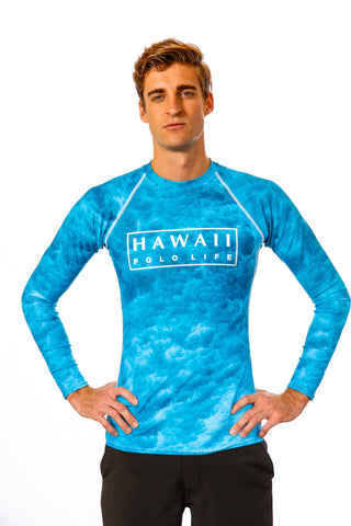 Men's Water Print Rash Guard (Front)