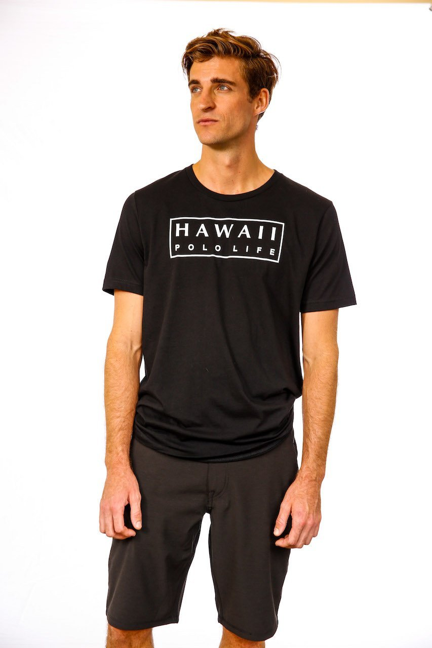 Boxed Logo Tee in Black