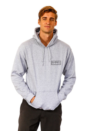 Boxed Logo Hoodie in Sports Grey