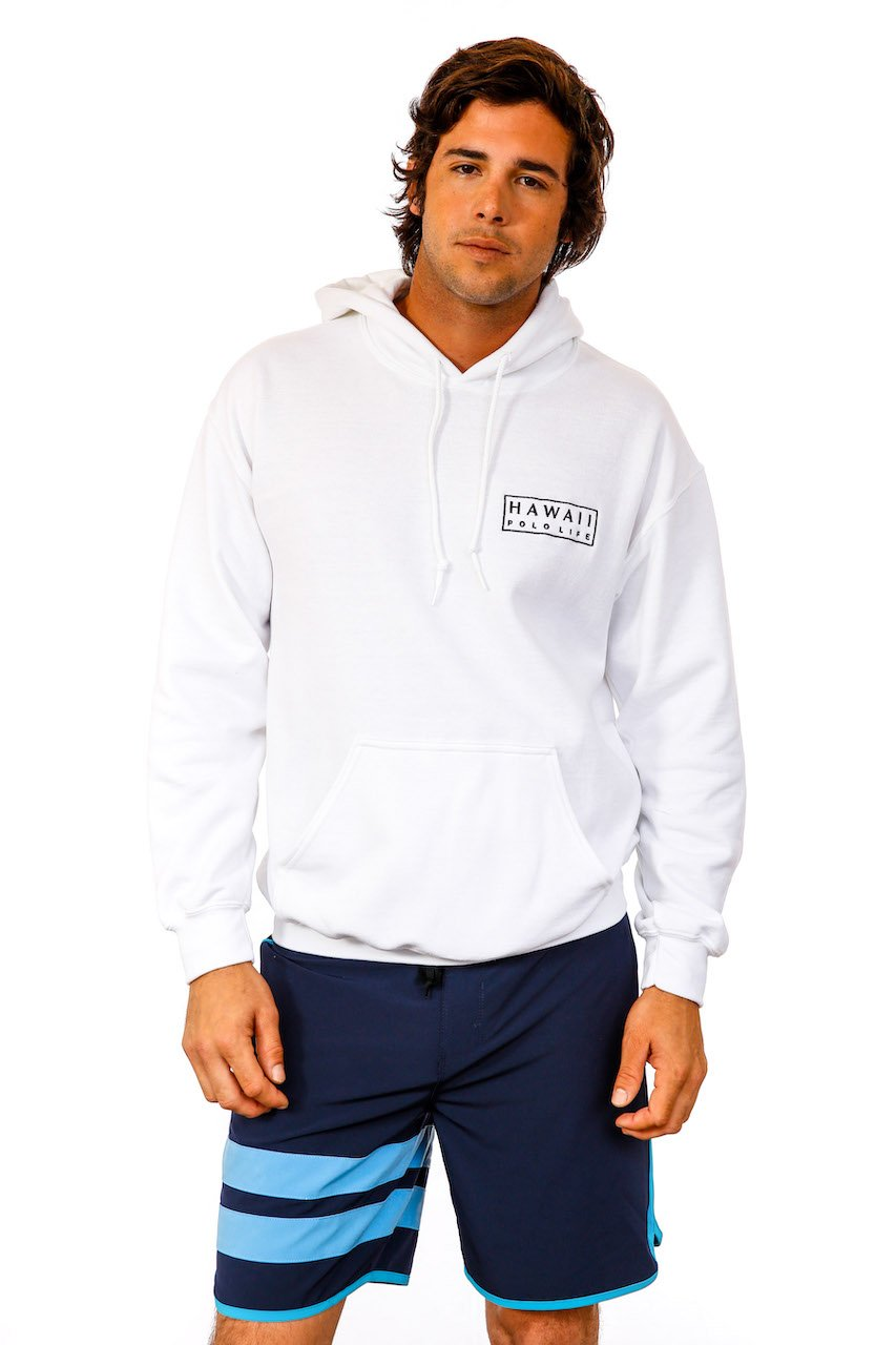Boxed Logo Hoodie in White