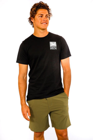 Hawaii Polo Life Logo Tee in Black