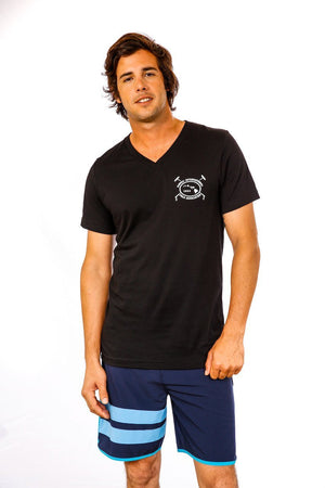 Hawaii International Polo Association V-Neck in Black