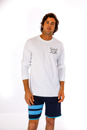 Hawaii International Polo Association Long Sleeve Tee in White