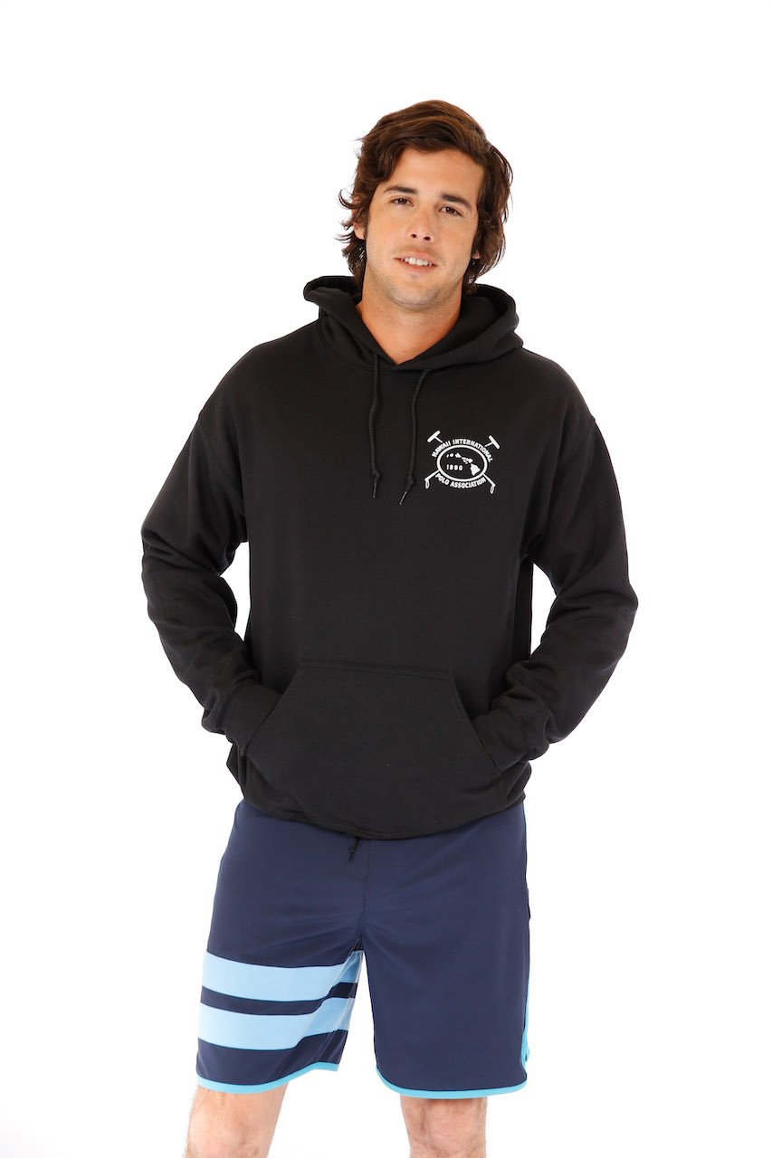 Hawaii International Polo Association Hoodie in Black
