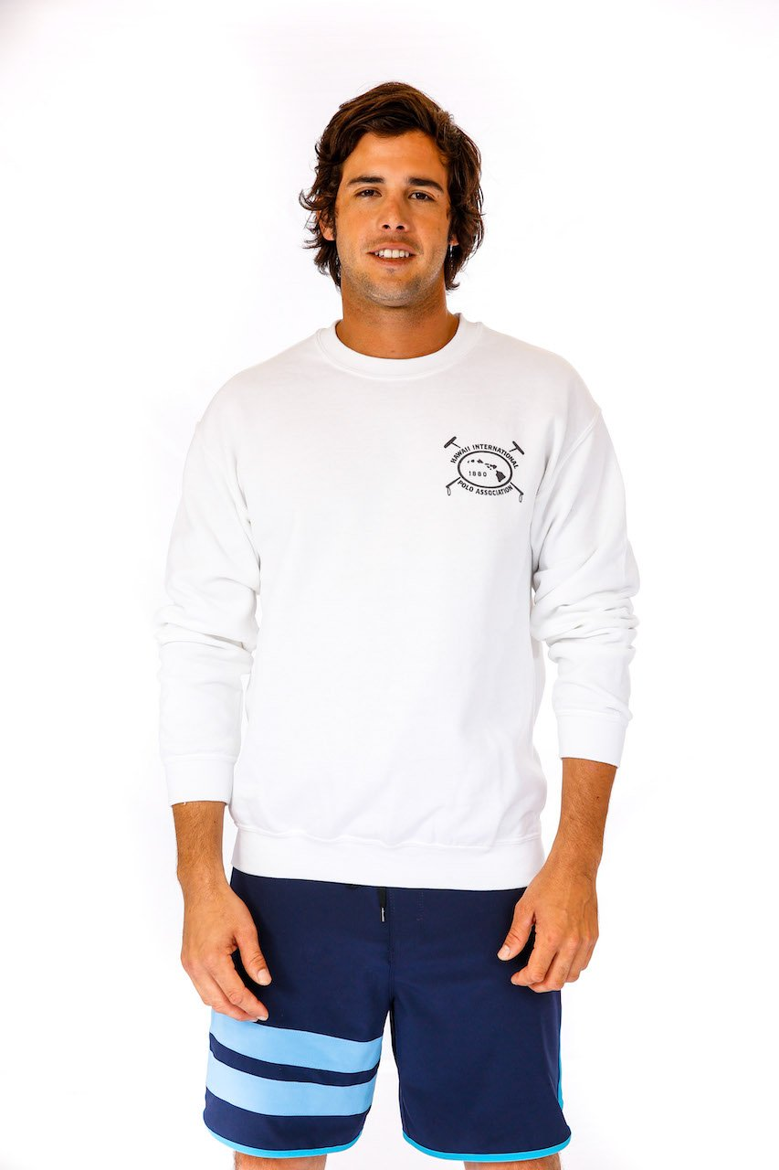 Hawaii International Polo Association Crew Sweatshirt in White