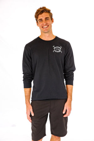 Hawaii International Polo Association Long Sleeve Tee in Black