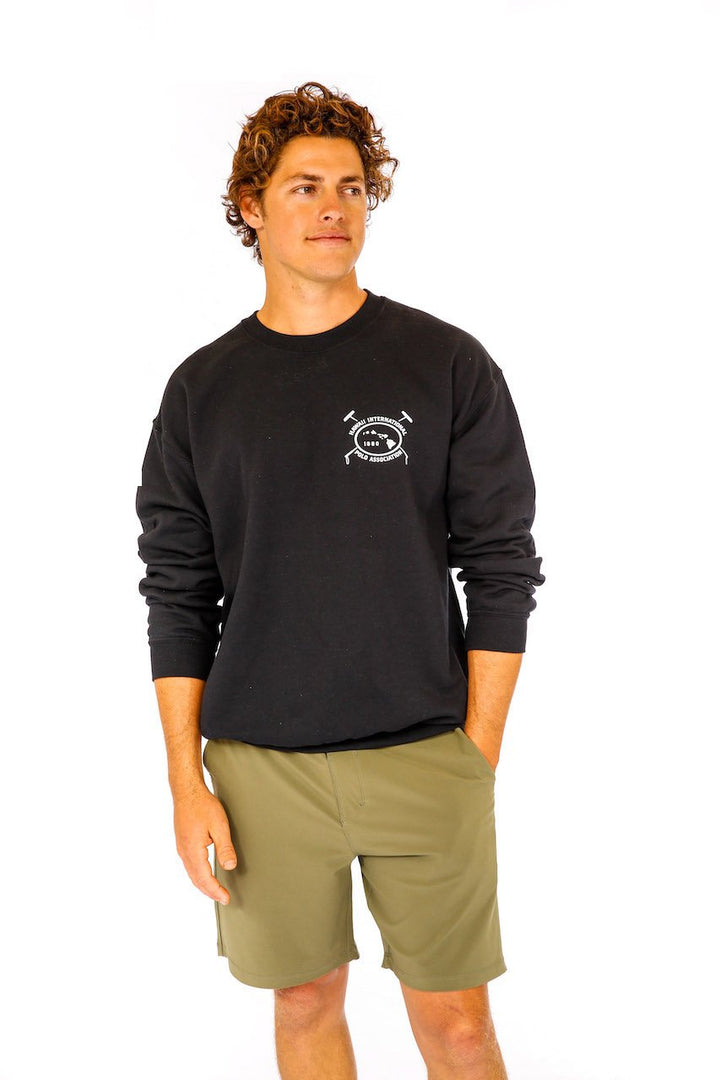 Hawaii International Polo Association Crew Sweatshirt in Black