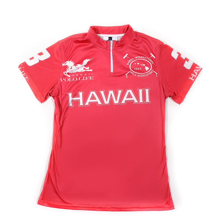 Women's Polo Jersey in Red (Hawaii)