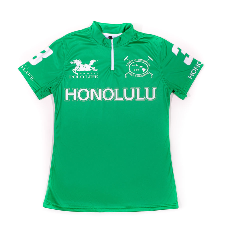 Women's Polo Jersey in Green (Honolulu)