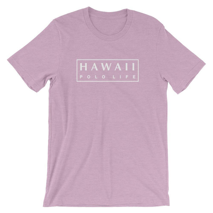 Boxed Logo Tee in Heather Prism Lilac