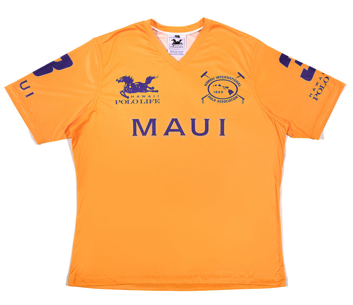 Men's Vee Neck Polo Jersey in Maui Gold (Maui)