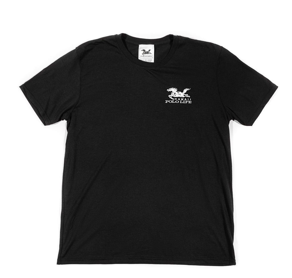 Hawai Polo Life Embroidered Logo Tee in Black