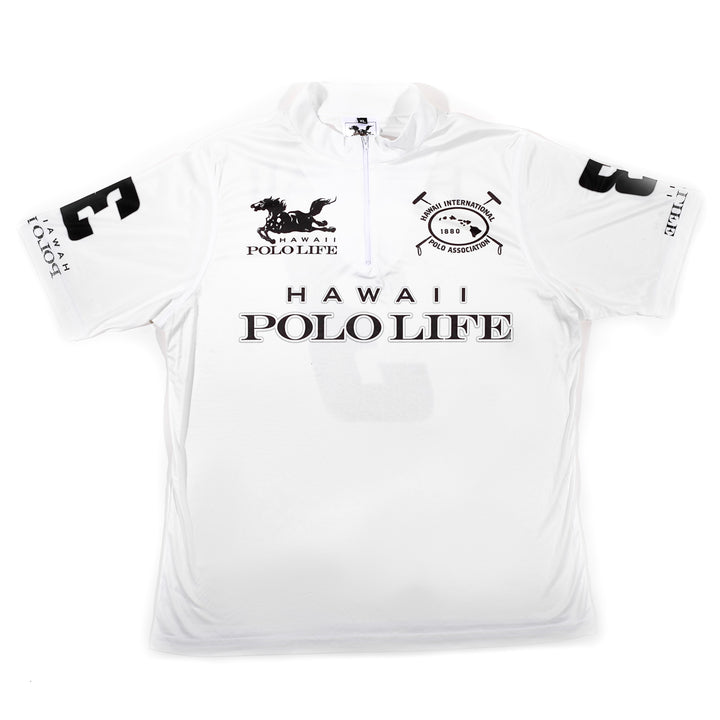 Men's Polo Jersey in White (Hawaii Polo Life)