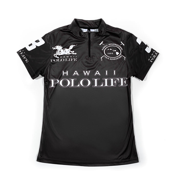 Women's Polo Jersey in Black (Hawaii Polo Life)