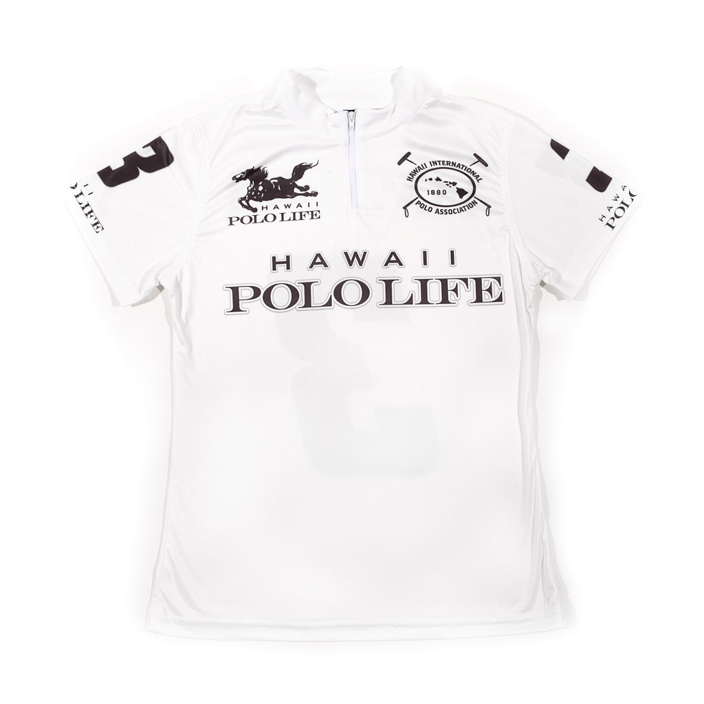 WOMEN'S POLO JERSEY - HAWAII POLO LIFE - WHITE