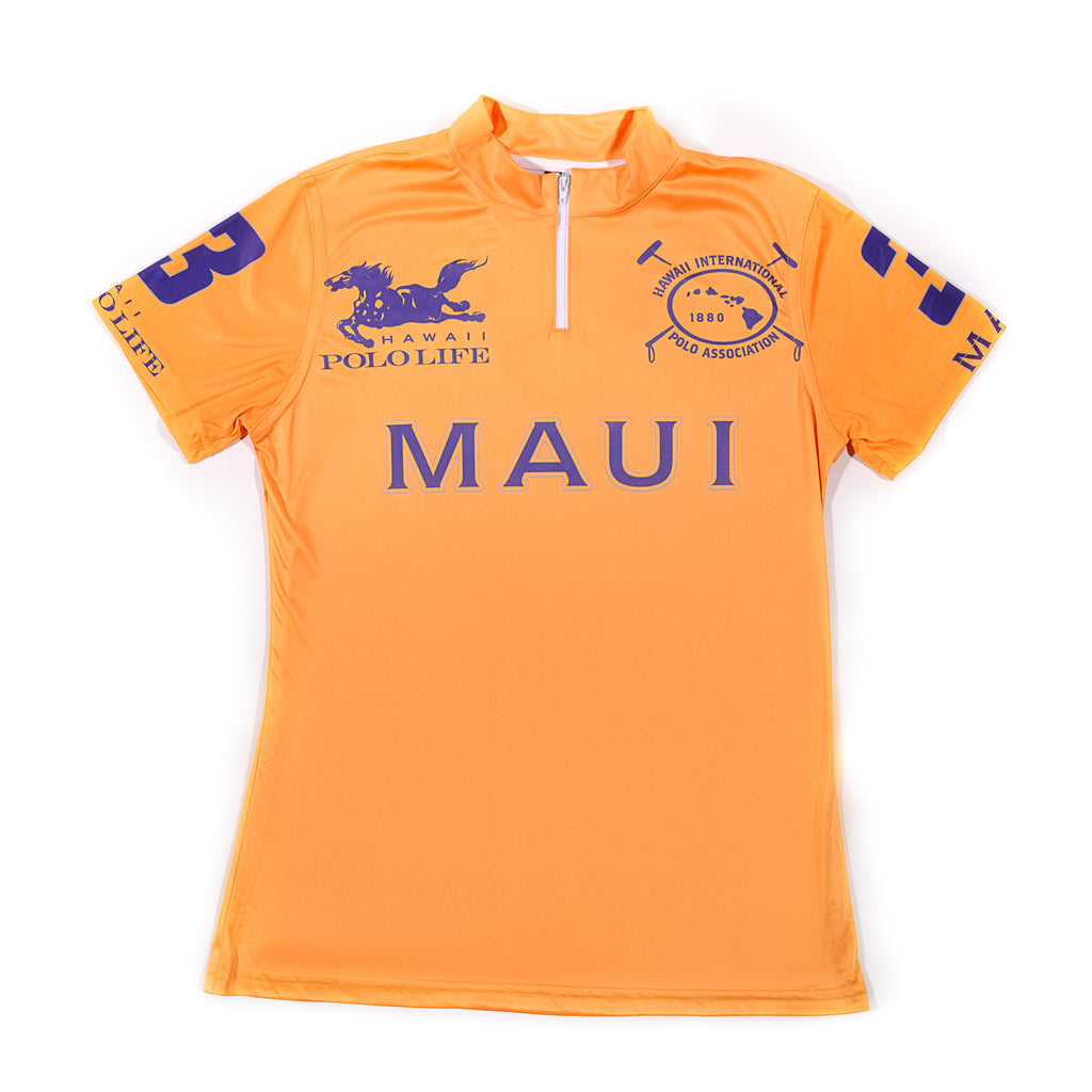 WOMEN'S POLO JERSEY - MAUI GOLD