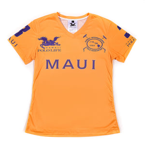Women's Vee Neck Jersey in Maui Gold (Maui)