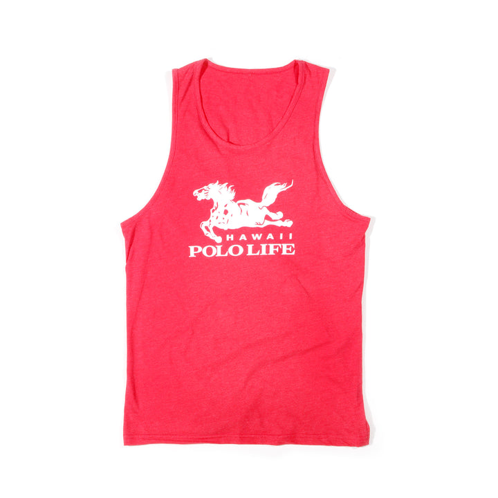 Hawaii Polo Life Logo Tank Top in Red