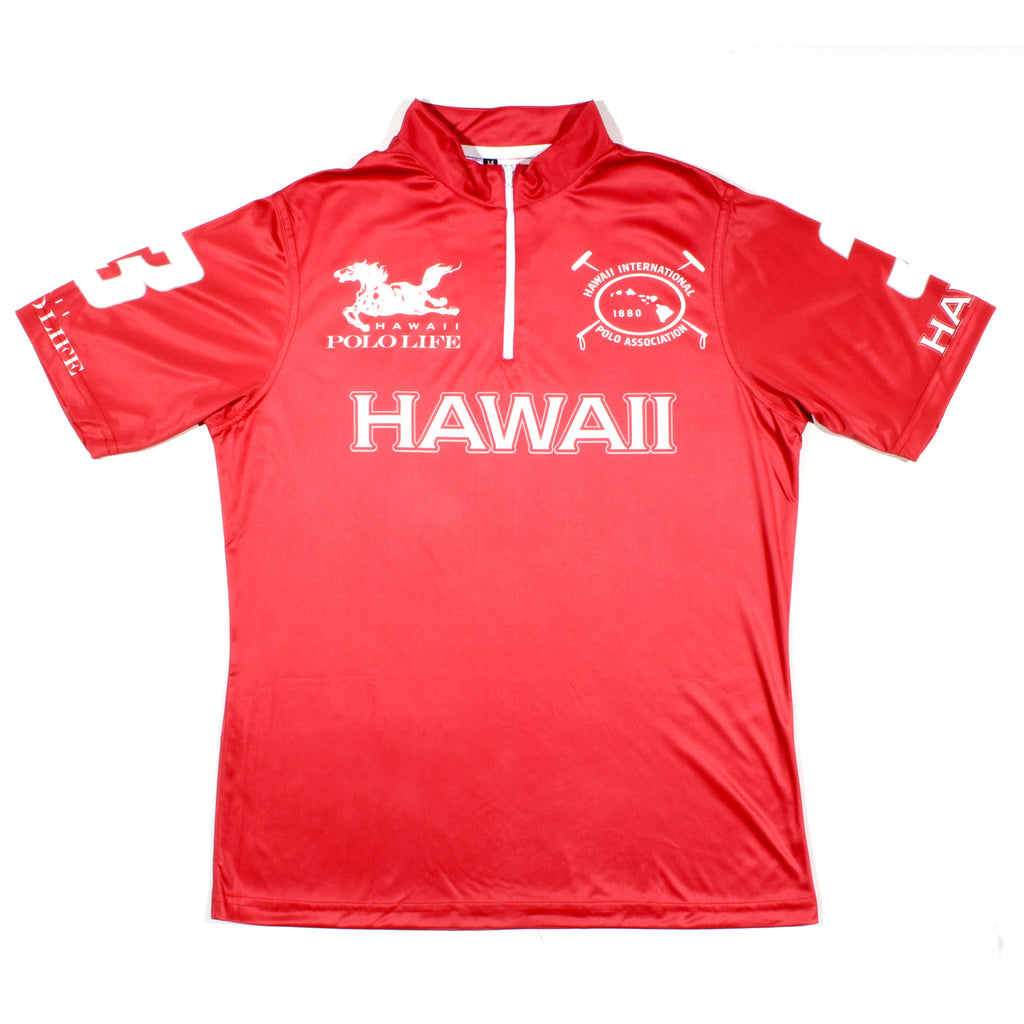 Men's Polo Jersey in Red (Hawaii)
