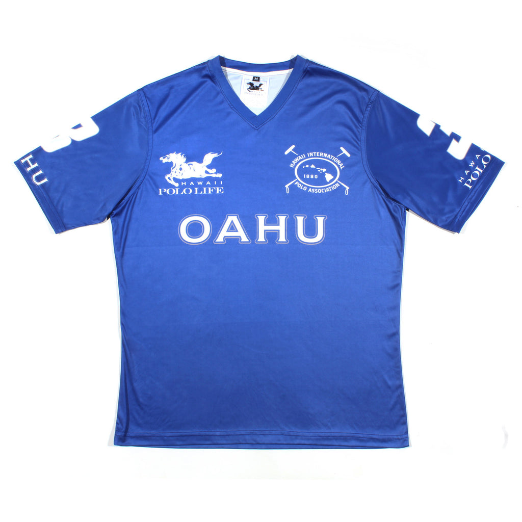 MEN'S V NECK JERSEY - OAHU BLUE