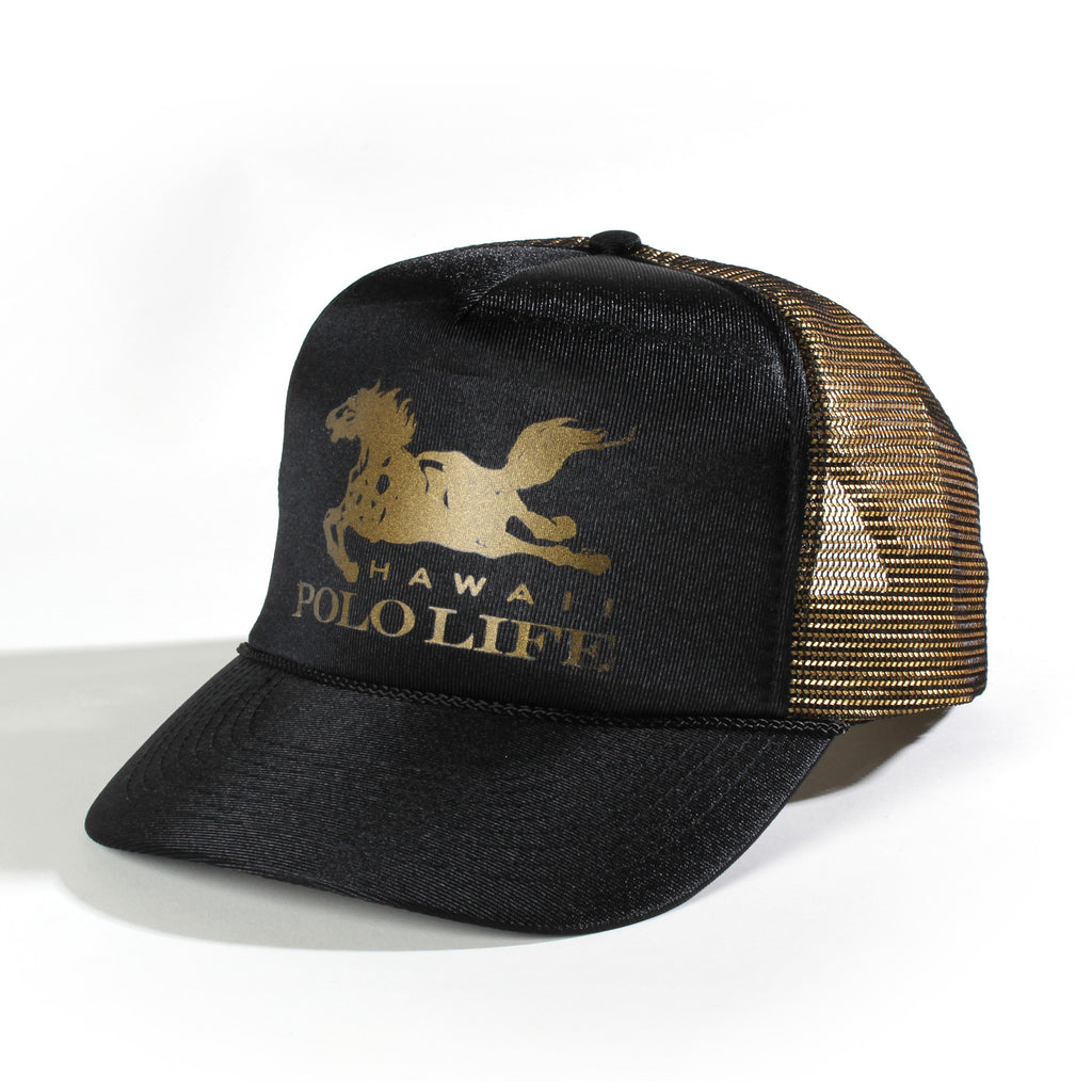 HPL Horse Trucker Hat Black / Gold
