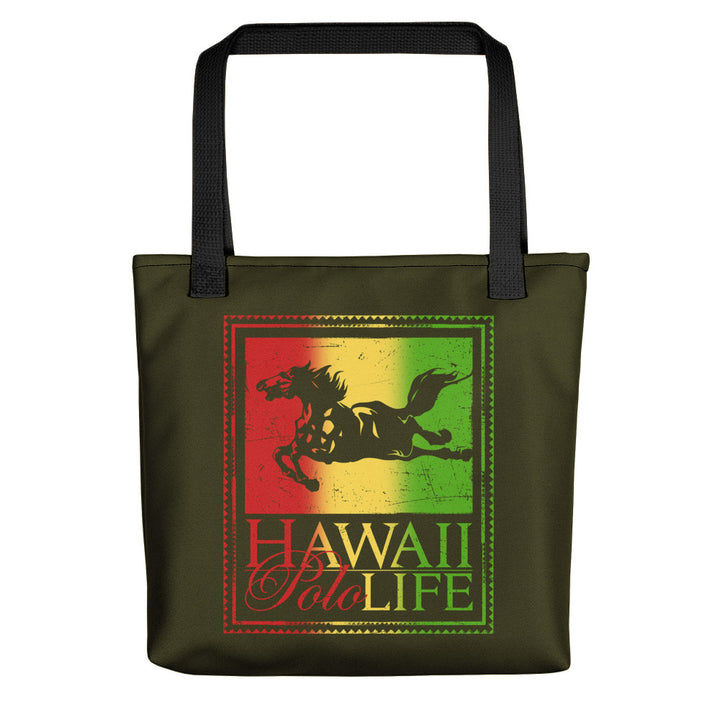 Hawaii Polo Life Reggae Beach Tote