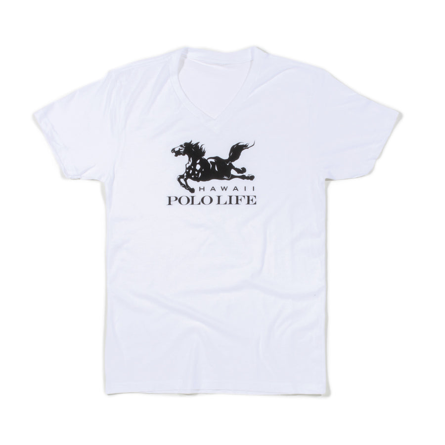 Hawaii Polo Life Logo Tee in White