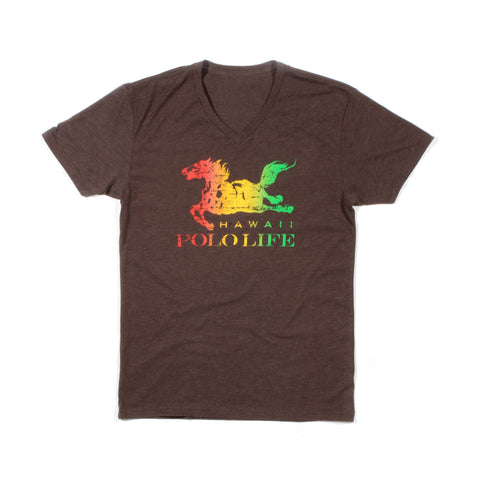 Hawaii Polo Life Logo Tee in Reggae